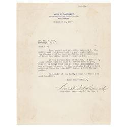 Franklin D. Roosevelt Typed Letter Signed