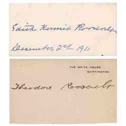 Theodore and Edith Roosevelt Signatures