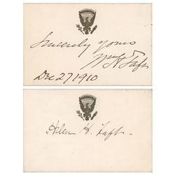 William and Helen Taft Signatures