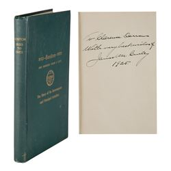 James M. Curley Signed Book