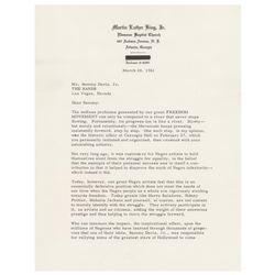 Martin Luther King, Jr Typed Letter Signed to Sammy Davis, Jr