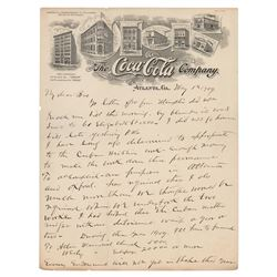 Asa Griggs Candler Autograph Letter Signed