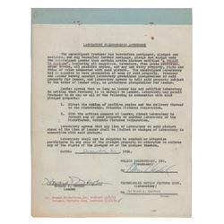Howard Hughes Document Signed
