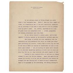 Alexander Graham Bell Typed Manuscript Signed