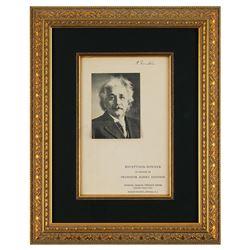 Albert Einstein Signed Program