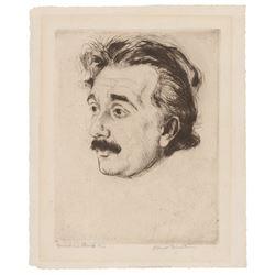 Albert Einstein Signed Etching