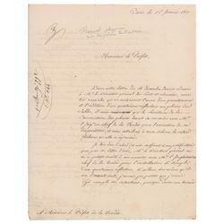Augustin-Jean Fresnel Autograph Letter Signed