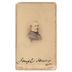 Joseph Henry Signed Photograph
