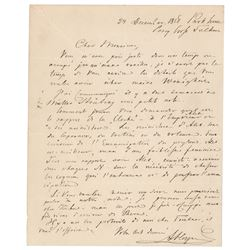 Alexander Herzen Autograph Letter Signed