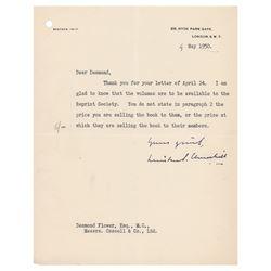 Winston Churchill Typed Letter Signed