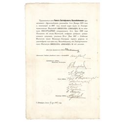 Pyotr Stolypin Document Signed