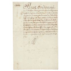 King Louis XVI Document Signed
