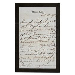 Queen Victoria Autograph Letter Signed