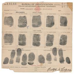 Ralph Capone Signed Fingerprint Card