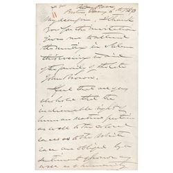John Albion Andrew Autograph Letter Signed