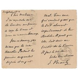 Edouard Branly Autograph Letter Signed