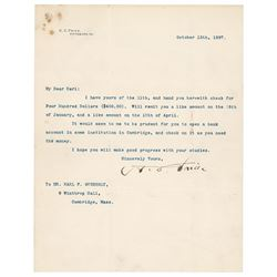 Henry Clay Frick Typed Letter Signed