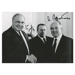Mikhail Gorbachev and Helmut Kohl Signed Photograph