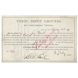 Jay Gould Document Signed