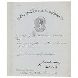 Joseph Henry Document Signed