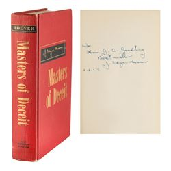 J. Edgar Hoover Signed Photograph and Book