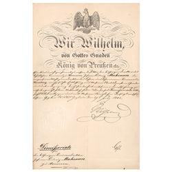 Kaiser Wilhelm I Document Signed