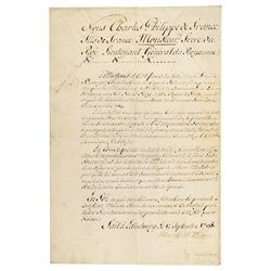 King Charles X Document Signed