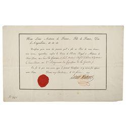 King Louis XIX Document Signed