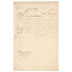 King Louis XVIII Document Signed