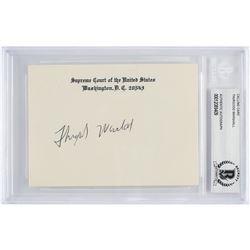 Thurgood Marshall Signature