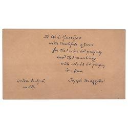 Giuseppe Mazzini Signature