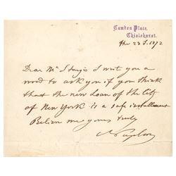 Napoleon III Autograph Letter Signed