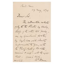 Richard Owen Autograph Letter Signed