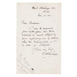 Edward Henry Palmer Autograph Letter Signed