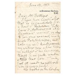 William Thomson, 1st Baron Kelvin Autograph Letter Signed