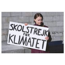 Greta Thunberg Signed Photograph