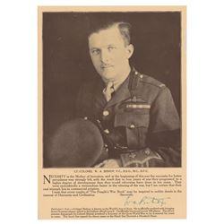 William A. Bishop Signed Photograph