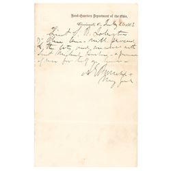 Ambrose E. Burnside Autograph Letter Signed