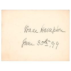 Wade Hampton Signature