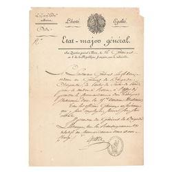 Francois Joseph Lefebvre Document Signed