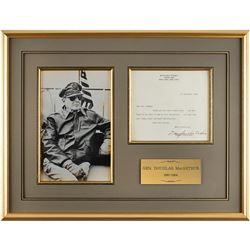 Douglas MacArthur Typed Letter Signed