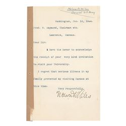 Nelson A. Miles Typed Letter Signed