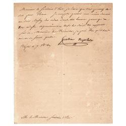Joachim Murat Letter Signed