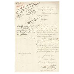 Nicolas Oudinot Document Signed