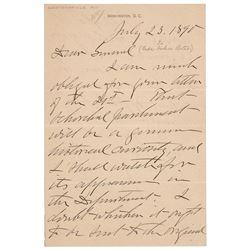 John Schofield Autograph Letter Signed