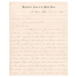 William T. Sherman Autograph Letter Signed