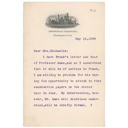 Samuel P. Langley Typed Letter Signed