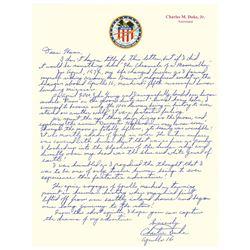 Charlie Duke Autograph Letter Signed