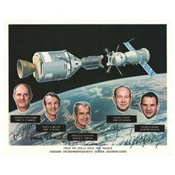 Apollo-Soyuz Signed Photograph
