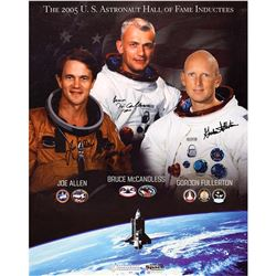 Space Shuttle: McCandless, Fullerton, and Allen Signed Poster